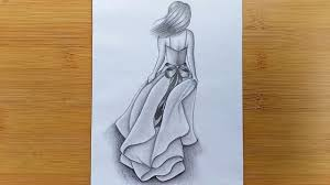 Youtube Fashion Design Sketches How To Draw A Girl With Pencil Sketch Step By Step Youtube