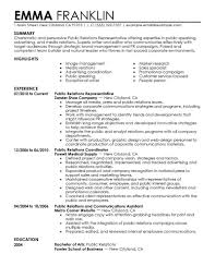 Example Of Good Resumes Fascinating Public Relations Resume Template