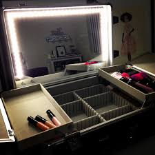 Makeup Case With Lights And Mirror Uk Stylish Portable Vanity Mirror With Light D Ucare Led