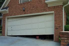 garage door that came off its tracks