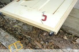 rolling barn doors add casters to bottom of diy door wheels