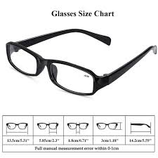 Reading Glasses Size Chart Details About Reading Glasses Resin Presbyopia 1 00 1 50 2 00 2 50 3 00 3 50 4 00 Strength