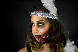 1920s flapper zombie flapper makeup tutorial