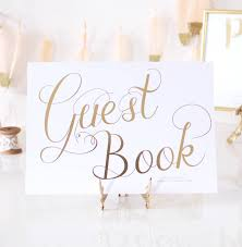 Sign Book For Wedding Guest Book Gold Foil Personalised Wedding Sign