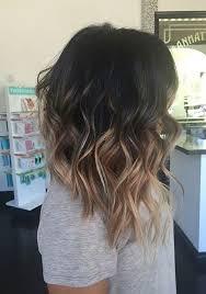 Asymmetrical Balayage Long Bob Haircut By Hope účesy Hnědé