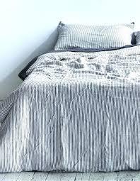 striped linen duvet cover king stripe belgian