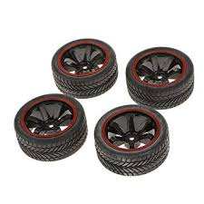 MagiDeal Pack of 4 <b>Rally Tires</b> Tyre & Wheel Rims with 12mm Hex ...