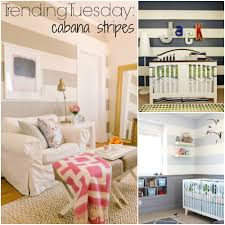 Stripe painted walls Accent Wall Trending Tuesday Cabana Striped Painted Walls Diy Tutorial Design Dimples And Tangles Trending Tuesday Cabana Stripes how To Paint Horizontal Wall