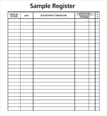 Blank Check Templates For Excel Template Business Register Free