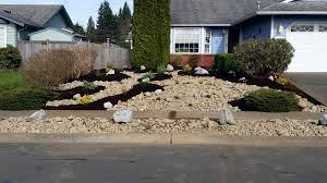 Homey Front Yard Landscaping Ideas With Stones Rocks Unthinkable