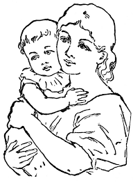 Free Indian Mother With Baby Drawing Download Free Clip Art Free