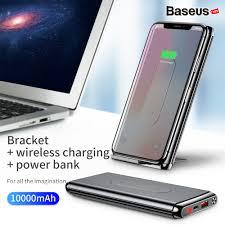 Pin sạc dự phòng không dây Baseus Dual Coil Wireless 10,000mAh, BS-10KP -  cho iPhoneX/ XS Max/ Samsung S9/ N9/ Xiaomi/ Huawei (LCD, Type C/PD + QC3.0  , Wireless charge Power bank) -