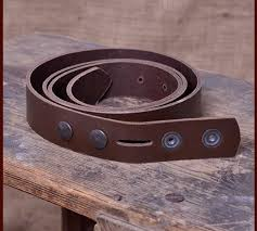 brown leather belt without buckle 3cm wide