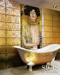 SICIS Mosaic Tiles Bath Tub Art Interiors GustavKlimt.