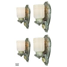 antique art deco wall sconces american design set of 4 light fixtures ant 800 for