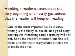 interesting ways to start an essay ppt video online hooking a reader s attention at the very beginning of an essay guarantees that the reader