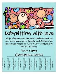 Babysitting Flyer Template Microsoft Word Free Babysitter Template Vivafashion Info