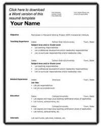 Best Images of First Time Resume   First Time Teacher Resume