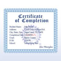 Florida Advanced Driver Improvement Course Certificate Driver