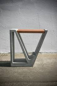 concrete and wood furniture. A Concrete And Wood Multipurpose Piece Of Furniture O