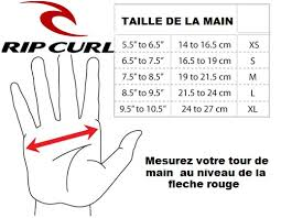 Rip Curl Dawn Patrol Size Chart Rip Curl Gloves Size Chart Images Gloves And Descriptions