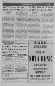 Nota Bene, August 24, 2000