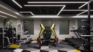 nulty ing bank uk headquarters london workplace modern gym linear lines light ceiling linear linecommercial lightingdesign consultantlighting
