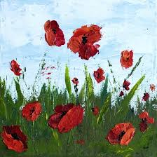 how to paint a flower step by step how to paint poppy flowers with acrylic paint and a palette knife simple step by step tutorial how to paint a flower step