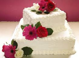 Buttercream 2 Tier With Fresh Flowers