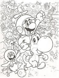 Leuke Kleurplaat Met Mario Mario Mario Coloring Pages