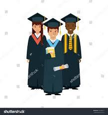group graduates books diploma over white stock vector  group of graduates books and diploma over white background colorful design vector illustration