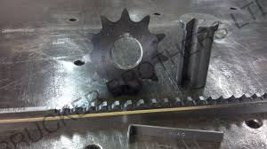 and then was able to assemble the motor to the gear box and the sprocket onto the output shaft