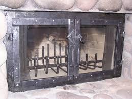 fireplace forged ceramic glass