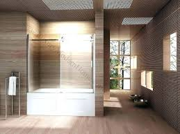 bathtub doors alcove glass sliding door shower polished nickel enclosures frameless