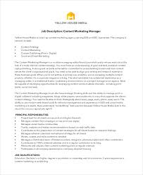 Marketing Officer Job Description Unique 48 Marketing Job Descriptions Free Sample Example Format Free