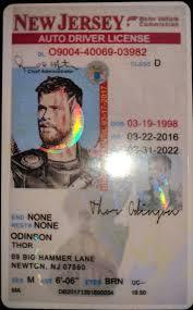 Id Idviking Fake nj Drivers Under Jersey - Ids New Scannable Best U21 License 21