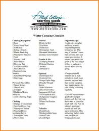 Camping Trip Packing List.winter Camping Checklist Template Pdf ...