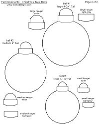 Free Printable Christmas Ornament Templates Felt Sew Christmas