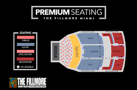 Miami Beach Fillmore Seating Chart 40 True To Life Fillmore Seating