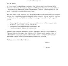 Computer Technician Cover Letter Sample Computer Repair Cover Letter