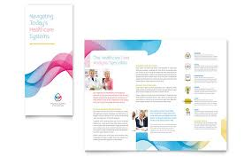 microsoft office catalog templates medical health care tri fold brochure templates