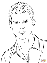 Small Picture Taylor Lautner coloring page Free Printable Coloring Pages