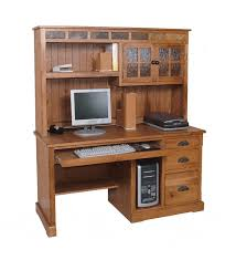 rustic shape teak wood computer desk. Arizona Rustic Oak And Slate Computer Desk W/ Hutch Shape Teak Wood I