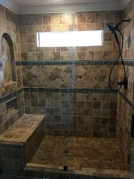 walk in shower tile cut out electric off