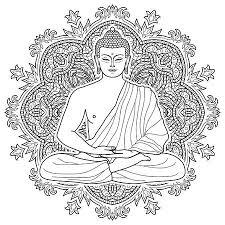 130 White Lord Buddha Statue Stock Illustrations Cliparts And