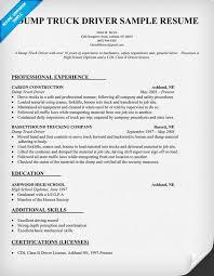 Dump Truck Driver Resume Sample (resumecompanion.com)