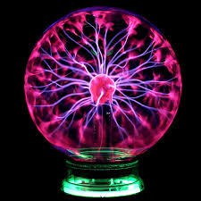 details about glass magic plasma ball light large table lights sphere night lamp touch new
