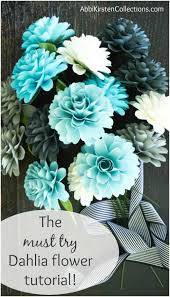 Dahlia Flower Making With Paper How To Make Paper Dahlia Flowers Small Paper Flower Tutorial