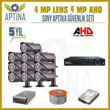 10 Kameralı 4 MP SONY APTİNA 1440P GUVENLİK KAMERASI SİSTEMLERİ Fiyatları  ve Özellikleri