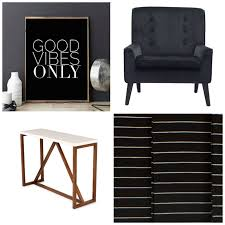 black n white furniture. Black And White Typography Sign, Wall Art, Console, N Furniture